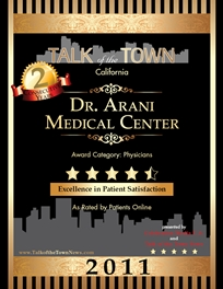 Talk Of The Town Award Winner - Dr. Arani Medical Center - 2011