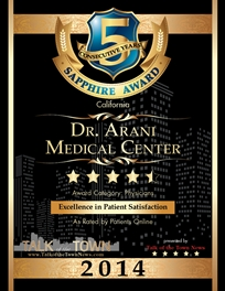 Talk Of The Town Award Winner - Dr. Arani Medical Center - 2014